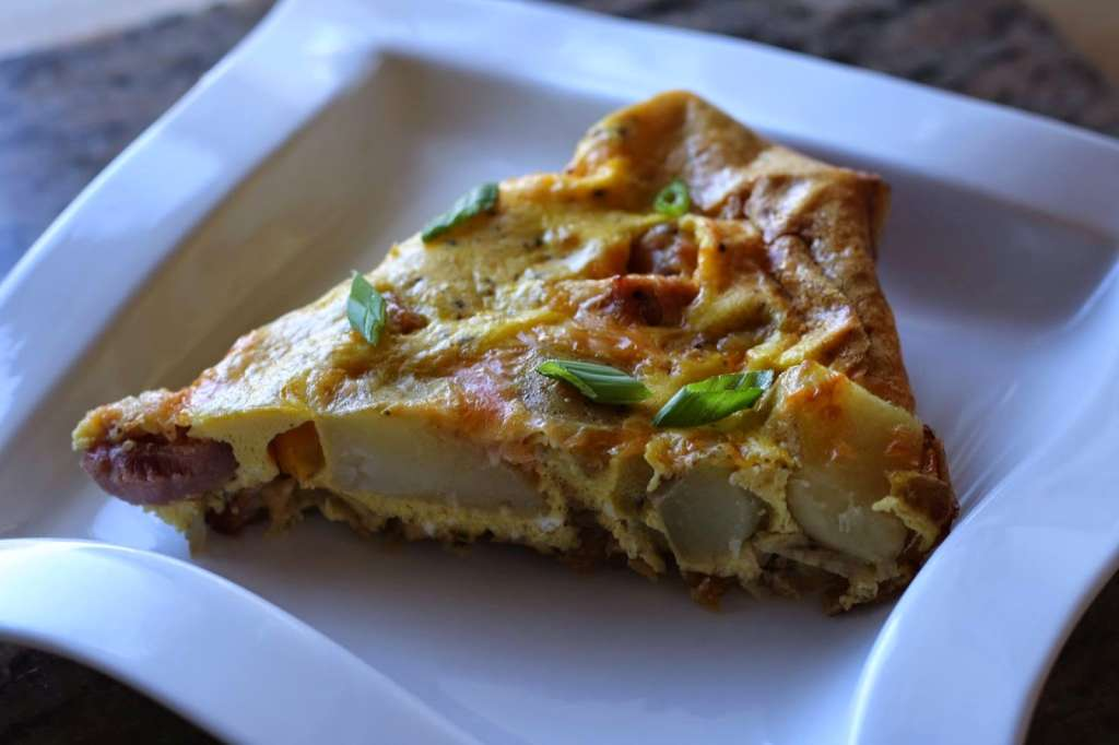 Recipe: Asparagus, Ham, and Gruyère Frittata with Basil Infused EVOO ...