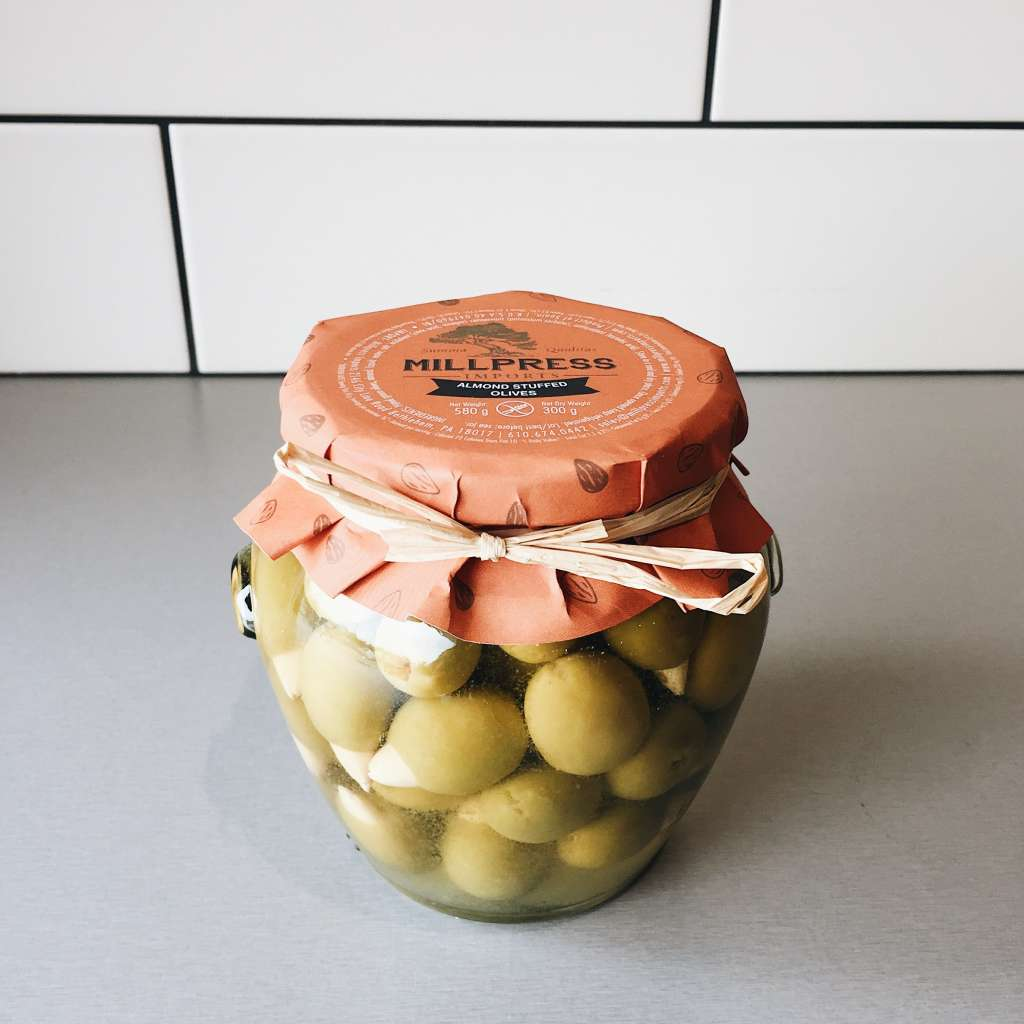 Almond Stuffed Olives | Frescolio - EVOO Olive Oil and ... Almond Olie